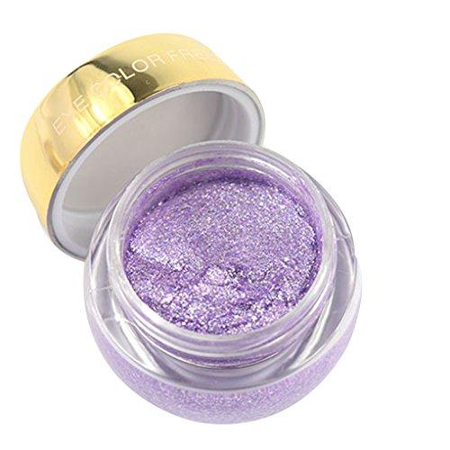 Uzinb Solo Color Maquillaje Brillo Impermeable Sombra de Ojos Crema de Maquillaje de Larga duración metálico Sombra de Ojos del Gel del Brillo
