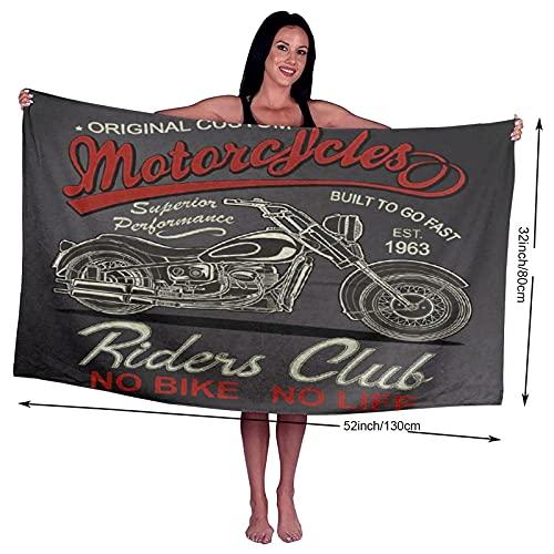 Asciugamano da bagno,Classico Moto d'epoca Motociclista d'epoca Nero Car Club Custom Drive,Asciugamani 100% in fibra superfine Asciugatura rapida Altamente assorbente per l'uso quotidiano,Bagno,SPA,32