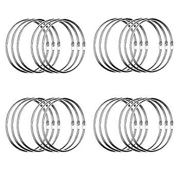 24 Pack 3 Inch Book Rings Loose Leaf Binder Rings Extra Large Metal Book Ring Big Keychain Key Rings  Silver