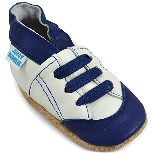 Soft Leather Toddler Boy Shoes - Baby Shoes with Suede Soles