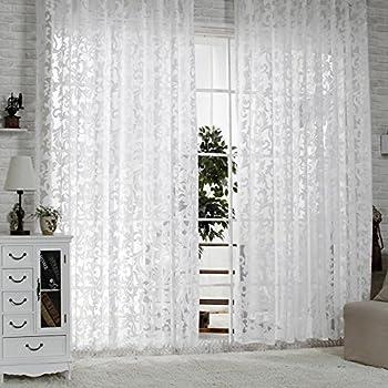 R.LANG Gardinen Wohnzimmer mit Kräuselband Oben Vorhang Weiß HxB 10x10 cm