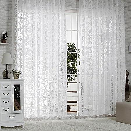R.LANG Gardinen Wohnzimmer mit Kräuselband Oben Vorhang Weiß HxB 8x8 cm