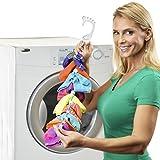 SockDock calcetín Herramienta de lavandería para Lavar, secar y almacenar Pares de Calcetines, Clips y candados, sin clasificar ni Combinar, Organizador de Armario, Paquete de 2 Rojo Blanco