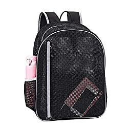 powerful High performance mesh backpack, transparent school backpack, translucent, padded mesh backpack …