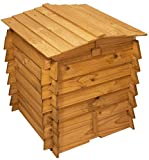 Lacewing Beehive Wooden Composter with Double Hinged Roof - 328L