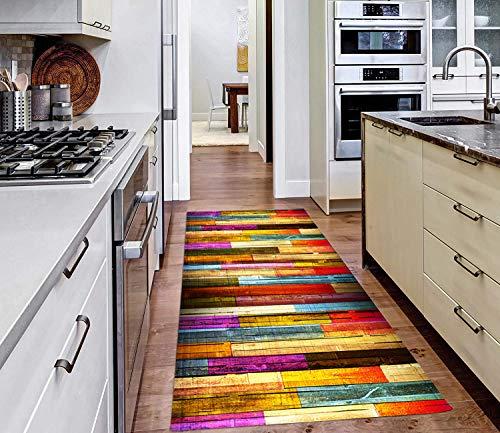 AIYOUVM Läufer rutschfest Küche (108 Größen und 5 Farben) Flur Läufer rutschfest Weiche Oberfläche Einfach zu Säubern, Flur Teppich Läufer für Wohnzimmer Flur Küche 80x300cm