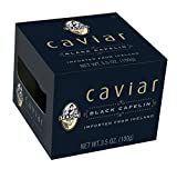 Season Black Capelin Caviar From Iceland, 3.5 Oz Glass Jar (Pack Of 4)