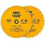 MIDO Professional Abrasive 12 Inch Miter Saw Blades 2PCS Circular Saw Blade...