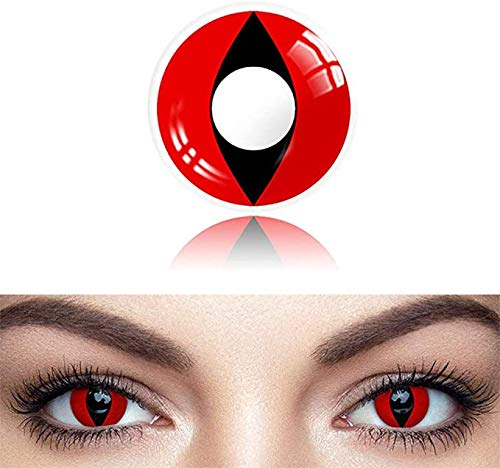 1 Pair Eye Colored Enhancer for Party, Cosplay, Fashion Show, Halloween (Red Cat Eye)