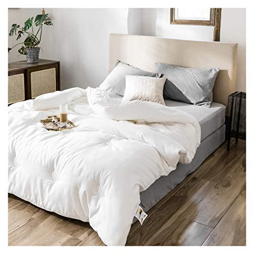 WAJIEFD 20% Fibra de Soja Edredón Cuatro Estaciones Tejido 100% Algodón Hotel, Disponible En Tamaños Individual Doble (Color : White, Size : 150X200CM-1.8KG)