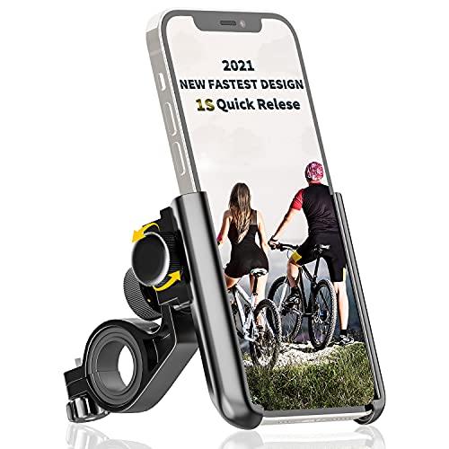 Tiakia Handyhalterung Fahrrad, Fahrrad Handyhalterung Universal für 3,5-7 Zoll Smartphone Huawei Samsung GPS usw, Handyhalter Motorrad 360°Drehbarem, Schnelle Demontage und Blitzinstallation