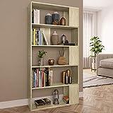 UnfadeMemory Libreria/Divisorio Libreria Scaffale Mobile casa Ufficio Soggiorno Rovere Sonoma 80x24x159 cm in Truciolato