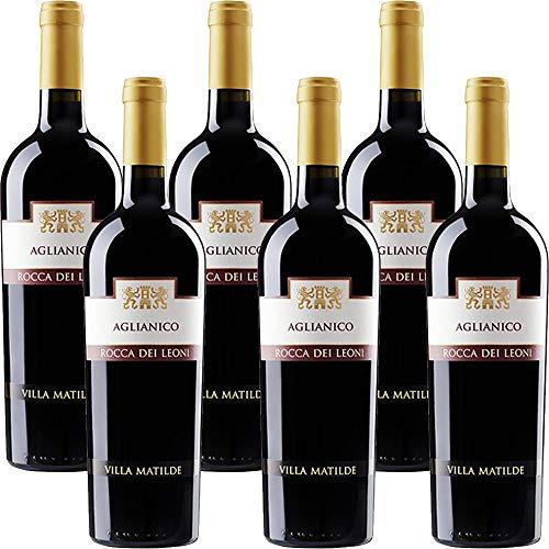 Aglianico del Beneventano Igt | Rocca dei Leoni | Villa Matilde | Vino Rosso della Campania | 6 Bottiglie 75 Cl | Idea Regalo