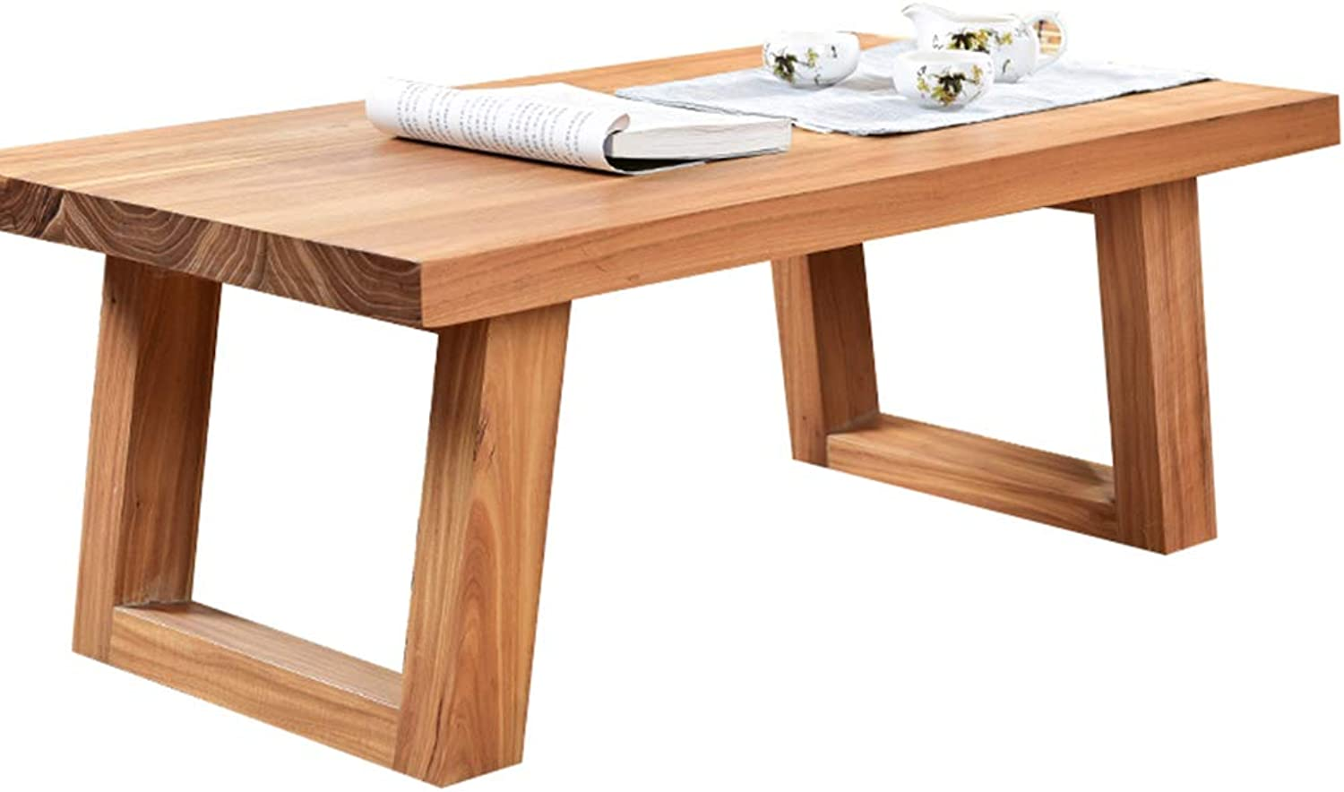 Coffee Table Solid Wood Simple Modern Balcony Small Coffee Table Low Table Platform Table Old Elm Bay Window Table Tables (color   Brown, Size   50  35  30cm)