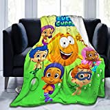 JosephHenkle Soft Micro Fleece Blanket for Bed Sofa Couch Chair Bubble Guppies Throws Gift 50'x40'