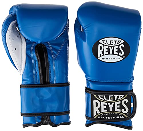 Cleto Reyes Hook and Loop Boxing Training Gloves , Blue , 12 OZ