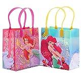 Disney Princess Little Mermaid Ariel Ocean Beauty Reusable Party Favor Goodie Small Gift Bags (12 Bags)