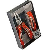 Mob Outillage 6202000000 Pince multifonction et son couteau, en acier inoxydable (en coffret)