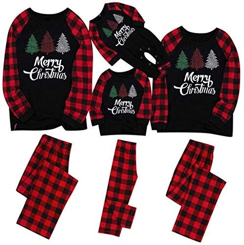 WPLHH Conjunto de pijama de Navidad con estampado de Papá Noel Squad...