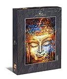 Ulmer Puzzleschmiede - Puzzle Buda: Puzzle de 1000 Piezas - La Cabeza de Buda como Pintura de Acuarela