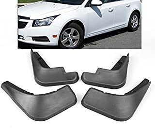 New 4Pcs Black ABS Mud Flaps Splash Guards Fender Front + Rear For 09 10 11 12 13 14 15 Chevy Cruze