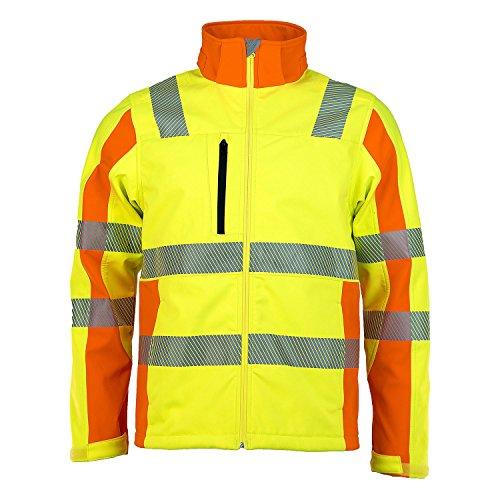ASATEX Prevent Trendline Softshell-Jacke PTW-DS, gelb/orange, Gr. 2XL