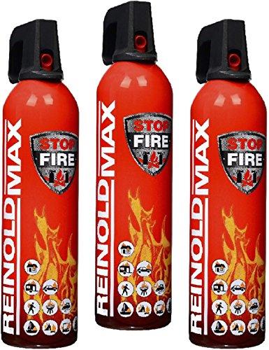3er Set Lönartz® 750 Feuerlöschspray (Feuerlöscher) (auch für Fettbrände, 3x750g netto) Reinold Max