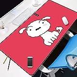 JIACHOZI alfombrilla ergonomica raton Cachorro blanco de dibujos animados 900×400×3 mm Teclado extendido Extra Grande para Escritorio con Base de Goma Antideslizante para Gamers, PC y Portátil Alfombr