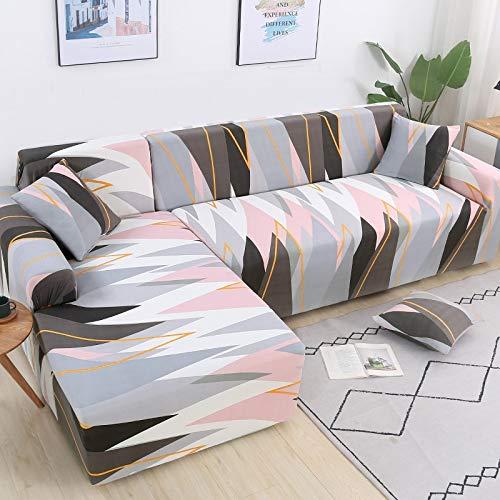 WXQY Elastische Sofabezüge für Wohnzimmer L-Form Sofa Need Buy 2 Stück Sofabezug Stretch Corner Couchbezug Schonbezüge A12 2-Sitzer