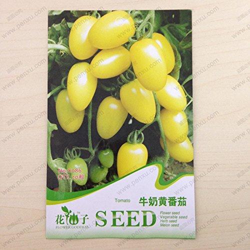 paquet de fruits d'origine et des graines végétales, lait jaune graines de tomates, fleurs matures 85 jours, 20 particules de graines / sac