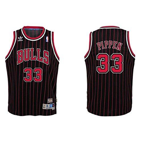 Scottie Pippen Chicago Bulls Black NBA Youth Hardwood Classic Swingman Jersey (Large)