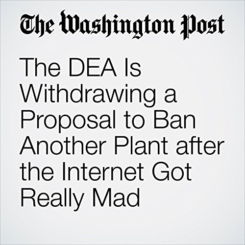 The DEA Is Withdrawing a Proposal to Ban Another Plant after the Internet Got Really Mad audiobook cover art