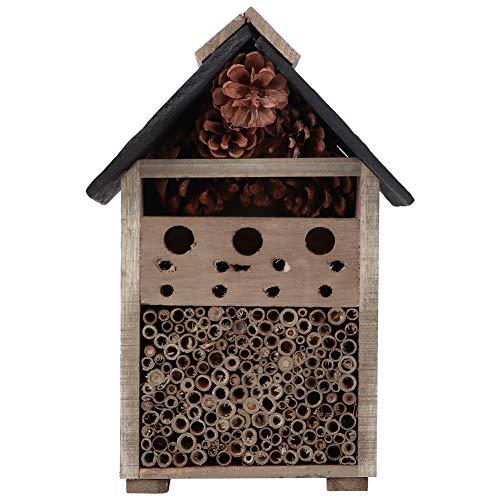 Ichiias Hanging Wood Craft Bug Habitat, Insect Nesting, for Outdoor Garden