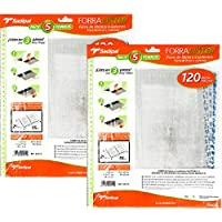 10 Forros Sadipal de Libros y Cuadernos Auto-Adhesivo Forro Ajustable 29x55cm 120 Micras