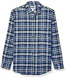 Amazon Essentials Men's Regular-Fit Long-Sleeve Plaid Flannel Shirt, Blue, Medium
