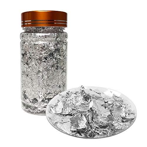 VGSEBA-Copos de Pan de Oro de Imitación 3g Copos de Aluminio para...