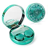 Color Sparkles Contact Lens Care Vision Care Nobleness Cute Contact Lens Cases Contact Lens Set Contact Lens kit Set Colored Contact Lenses for Women (Green)