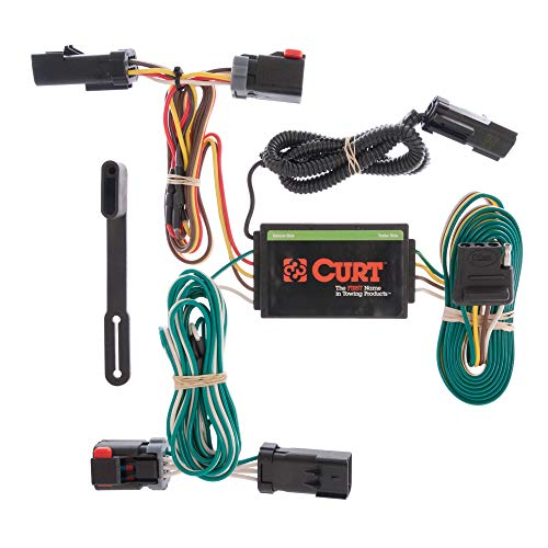 CURT 55530 Vehicle-Side Custom 4-Pin Trailer Wiring Harness for Select Chrysler Pacifica