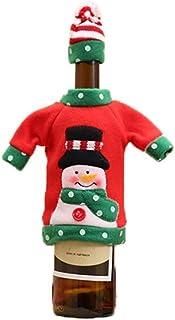 New Christmas Wine Bottle Set natalizio ricamo cartone animato bottiglia di vino set di natale giorno tavolo da pranzo hot...