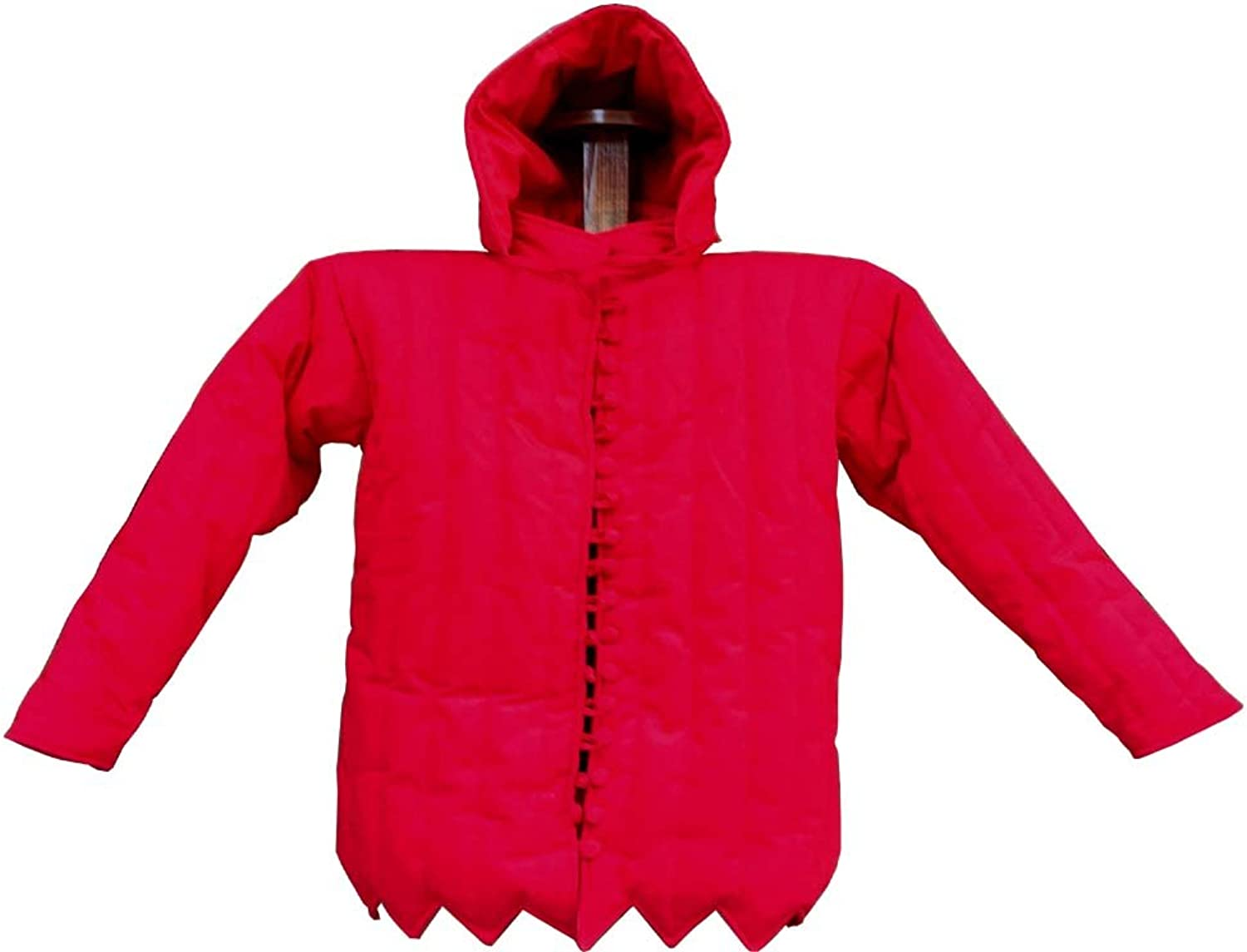 NauticalMart Medieval Beautiful Large Thick Padded Red Gambeson Aketon Women Jacket Wearable Overcoat