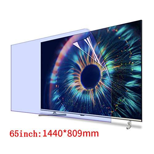 JANEFLY 65-Zoll-TV Set Universal Displayschutzfolie, Anti Blaulicht-Schirm-Schutz Filter Anti-Strahlung Film Augen für LCD LED HDTV schützen,65inch(1440 * 809mm)