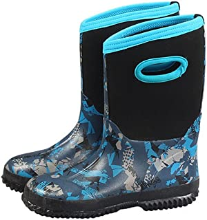 LH Fashion Waterproof Kids' Neoprene Rubber Rain Boots