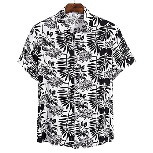 SSBZYES Camisas para Hombres Camisas De Verano De Manga Corta Camisetas para Hombres Tops para Hombres Camisas De Solapa De Manga Corta De Algodón Camisas para Hombres