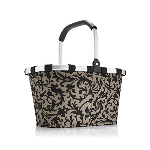 reisenthel Carrybag Fabric Picnic Tote, Sturdy Lightweight Basket for Shopping and Storage, Baroque Taupe