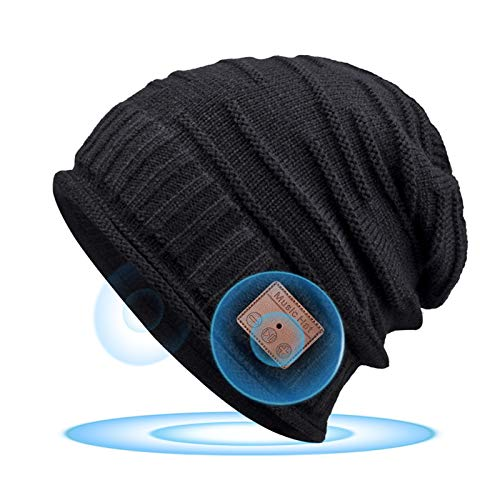 Bluetooth Beanie for Men, Bluetooth 5.0,Mens Gifts, Women Mens Beanie Hats with Bluetooth Headphones,for Outdoor Sports, Skiing,Running,Skating,Christmas Birthday Gifts for Men Women,Fashion & Comfort