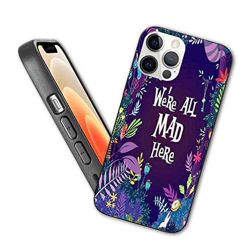 GULTMEE Series Case for iPhone 12 pro max case, Mad Hatter Alice in Wonderland,6.7 inch Phone case ,Soft Shell TPU Anti-Drop Shell