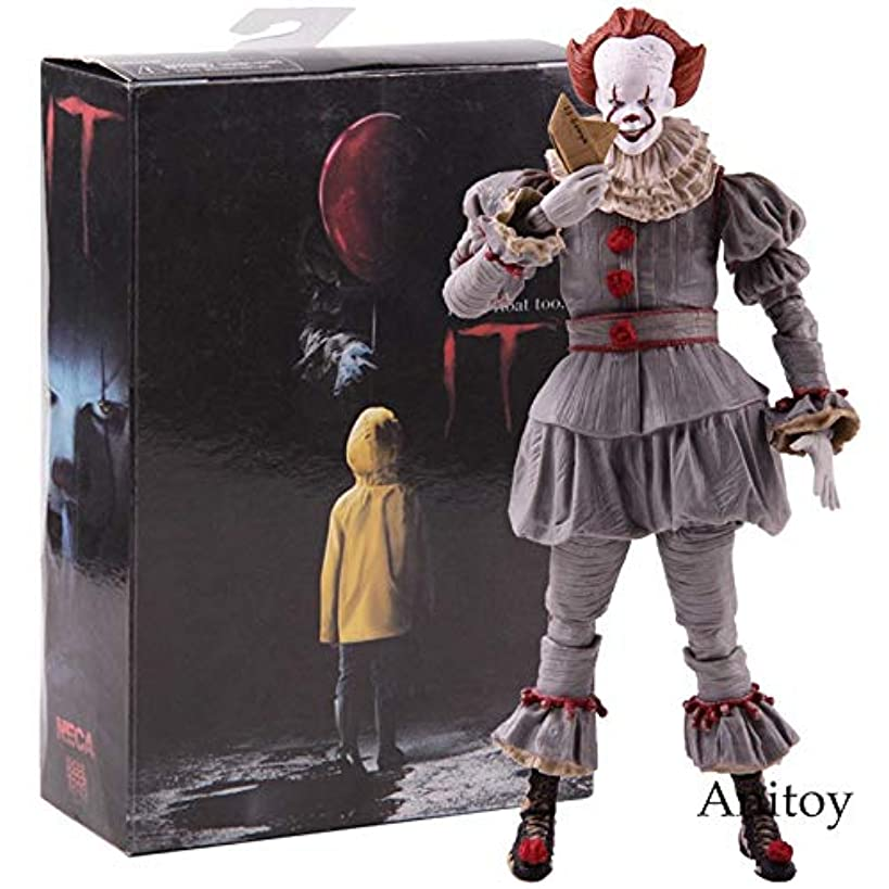 NECA Sealed Original Stephen King's It 2017 Ultimate Pennywise PVC Action Figure Collectible Model Toy Gift with Color Box 18cm 7inch