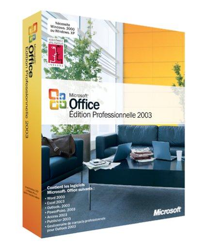 Office 2003 Professionnel Mise à jour (Word, Excel, Outlook, PowerPoint, Publisher, Access, InfoPath, Fonctions IRM et XML)