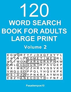 Word Search Book for Adults Large Print: 120 Puzzles - Volume 2