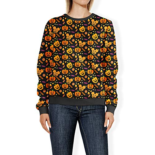 Halloween Mickey Pompoenen Disney Geïnspireerd Womens Sweatshirt trui